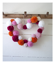 Pom Pom wreath