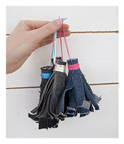 Jeans tassels