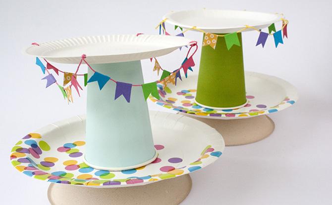紙皿と紙コップで作るスタンド