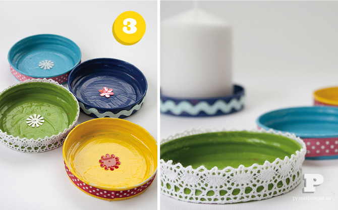 Ljusfat av lock/Candle plates