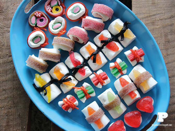 Forget raw fish. This candy sushi is safe or even the littlest kids. | Sweet Tooth blog