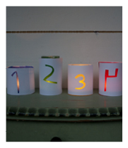 Jar Advent candlestick