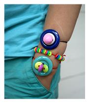 Knapparmband:Button Bracelets
