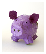 Papier Mache Piggies