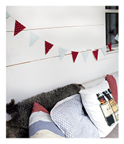 Vaxduksvimplar:Oil cloth bunting