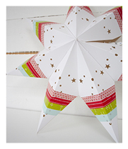 Washi taped star