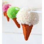 Make a Pom Pom Icecream Garland