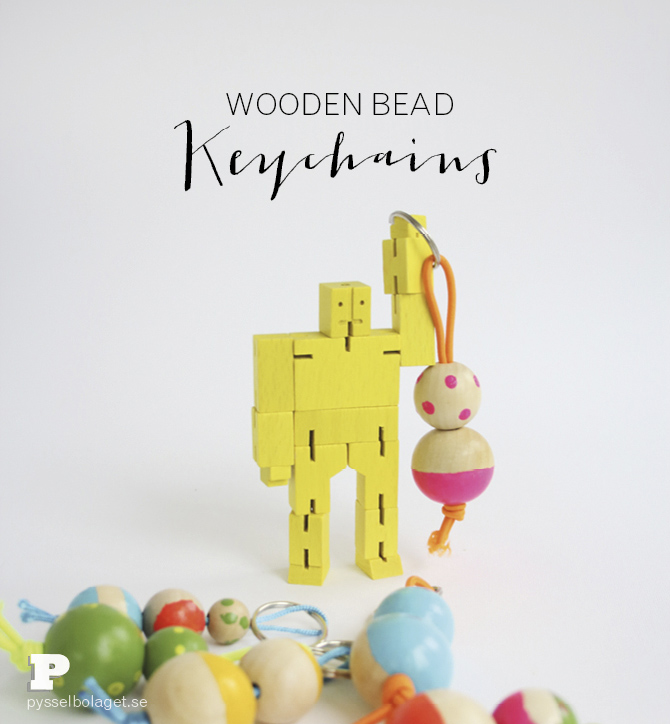 Wood bead keyrings PB 2014