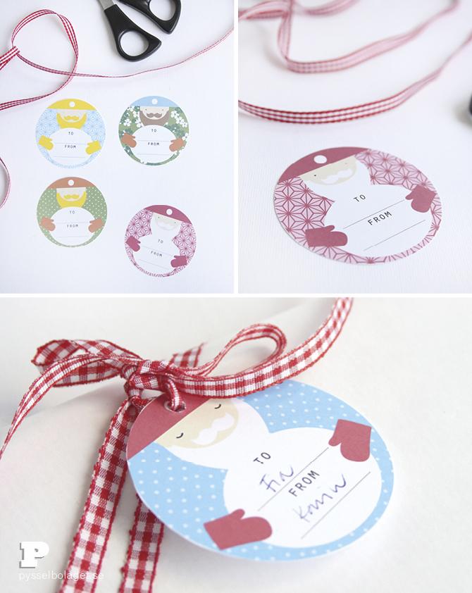 Santa labels Pysselbolaget 3