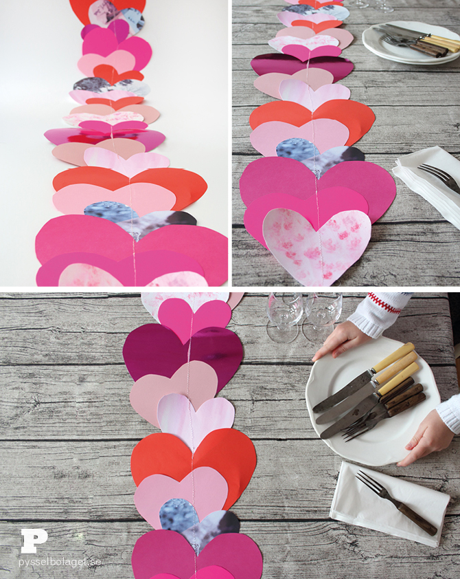 Heart table runner 7