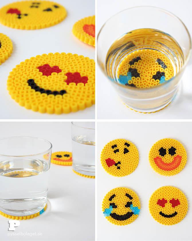Emoji bead coasters 5
