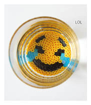 http://media.pysselbolaget.se/2015/03/Emoji-bead-coasters.jpg