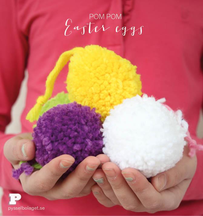 Pom Pom Easter Eggs 1