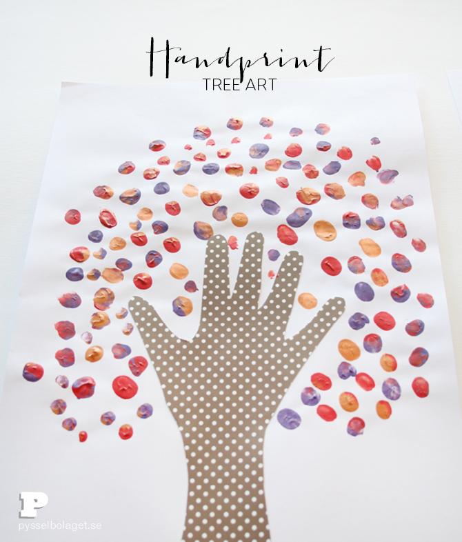 Handprint tree art