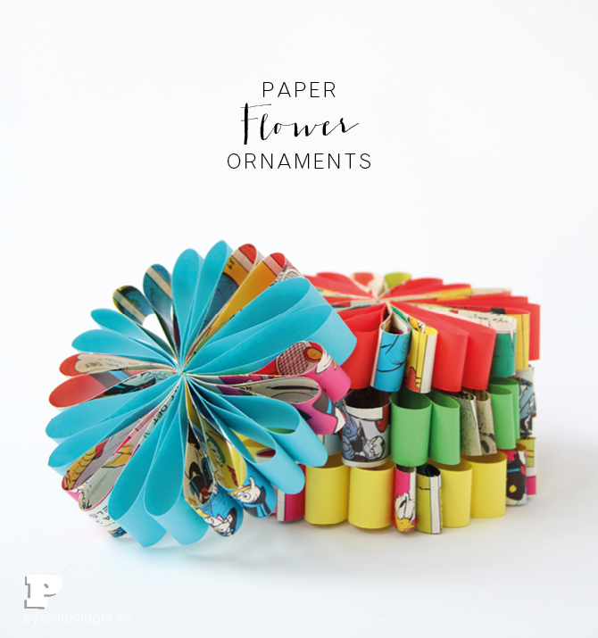 Make Paper Flower Ornaments Pysselbolaget Fun Easy Crafts For