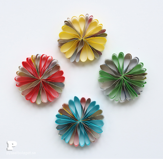 Paper flower ornaments7