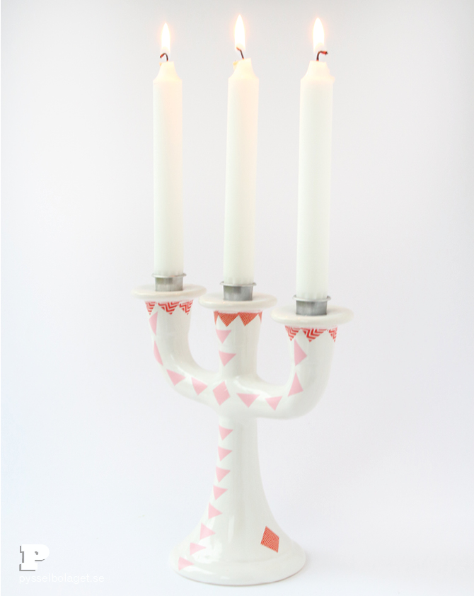 Washi tape candle holder6