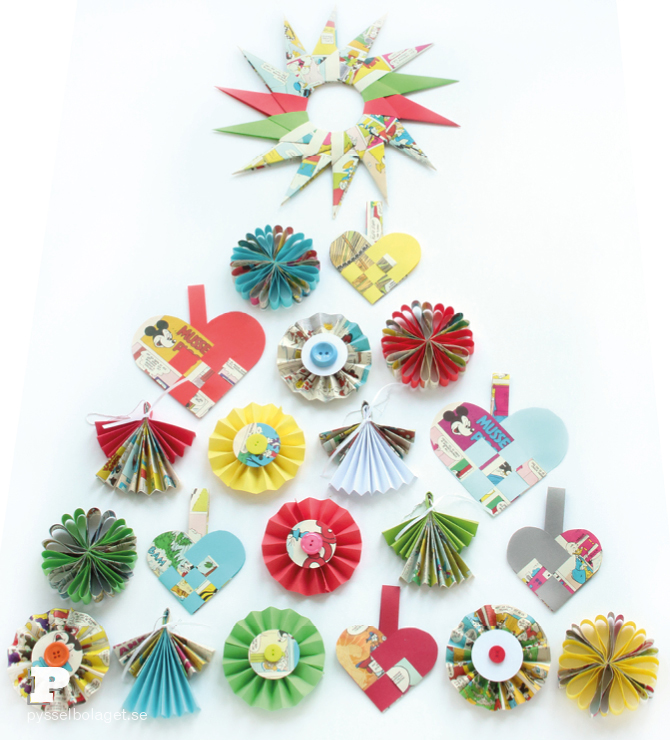 Folded Christmas Ornaments