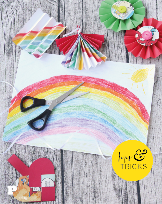Paper craft with drawings