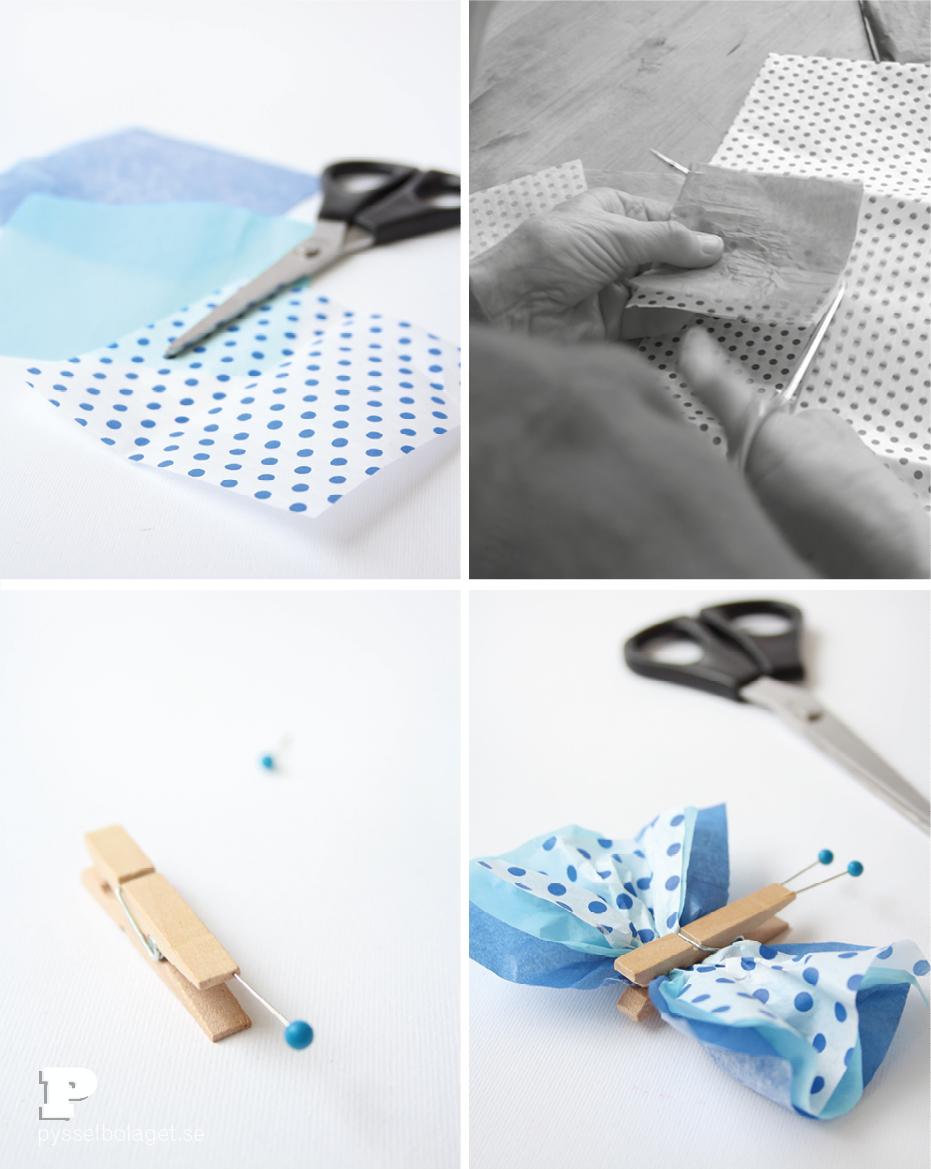 Tissue paper butterflies3