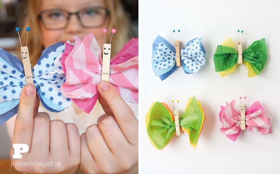 Tissue paper butterflies5