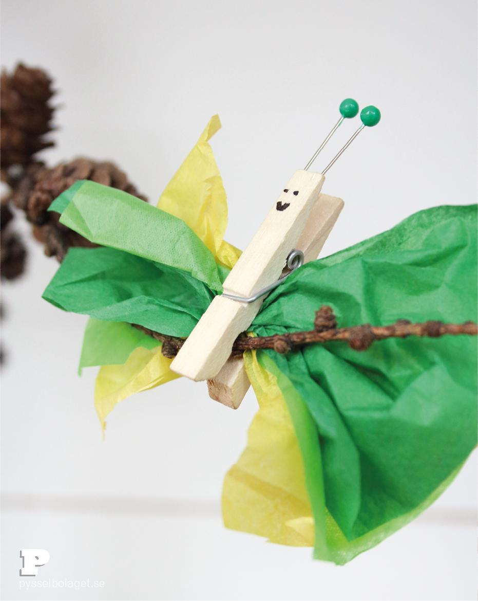 Tissue paper butterflies6