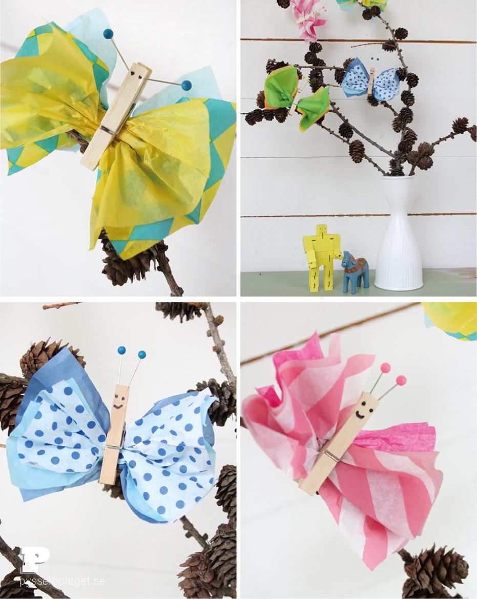 Tissue paper butterflies7