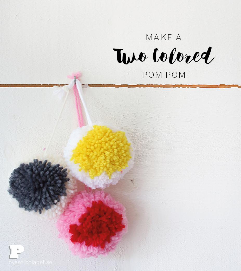 Two colored pom pom