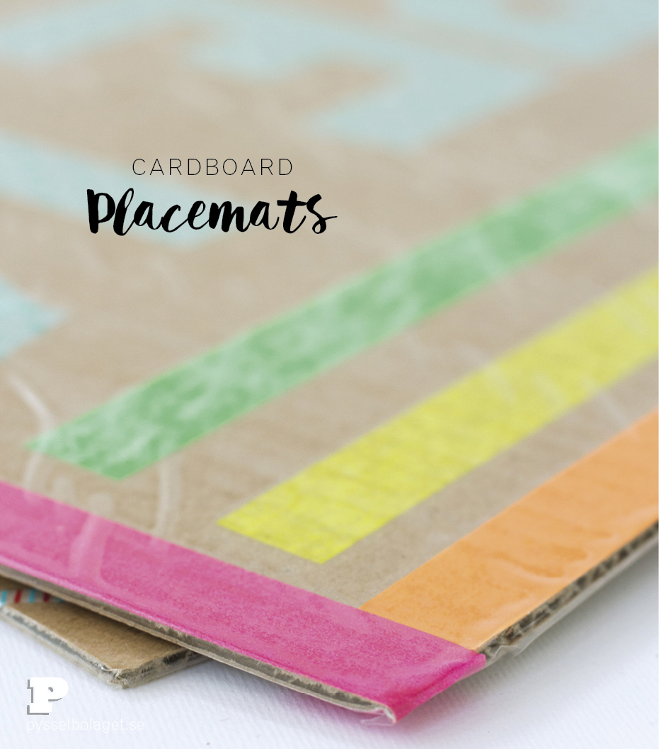 Cardboard placemats