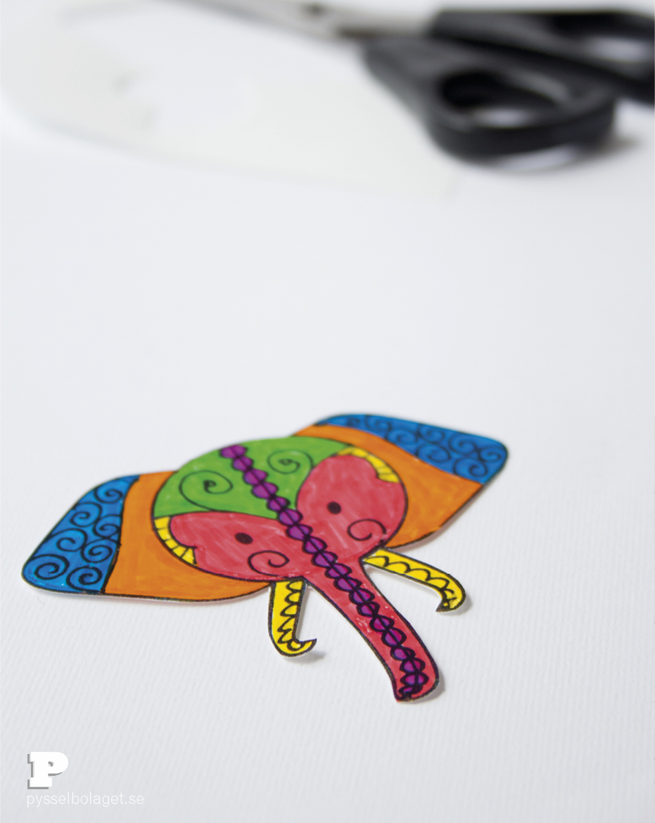 Elephant bookmarks 4
