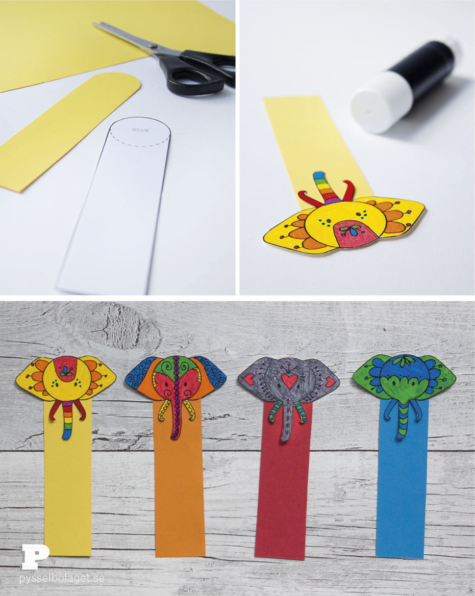 Elephant bookmarks 5