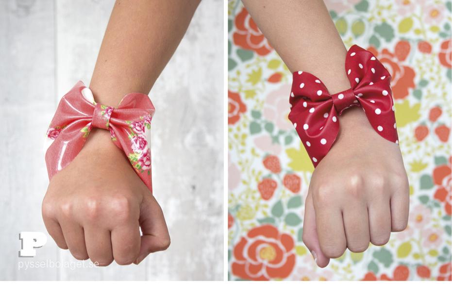 Oilcloth bracelets 7
