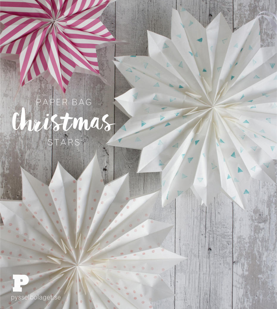 Paper Bag Christmas Stars Pysselbolaget Fun Easy Crafts For Kids