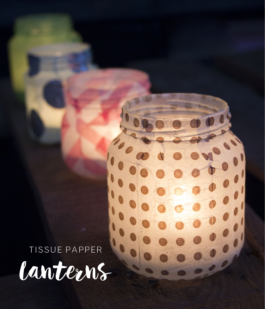 Make Tissue Paper Lanterns Pysselbolaget