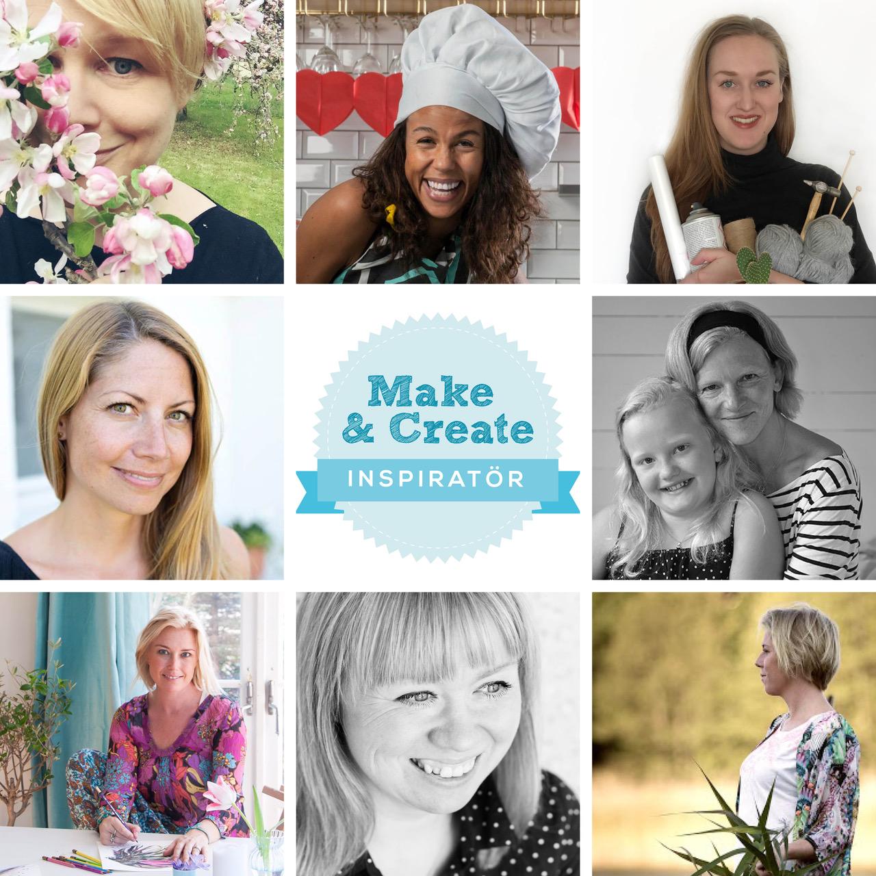 Vi är Make & Create-Inspiratörer!