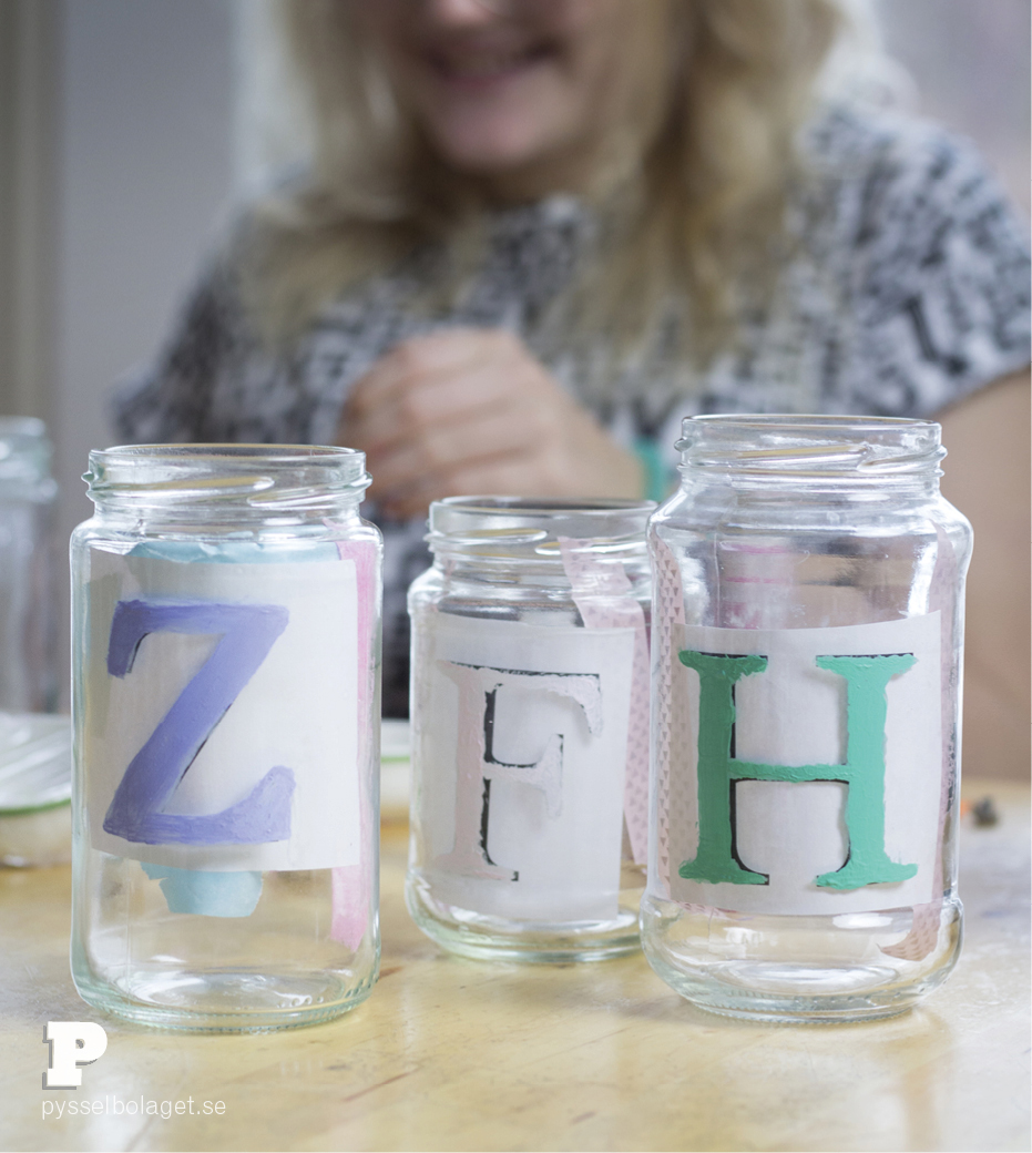 Make Personalized Drinking Jars by Pysselbolaget