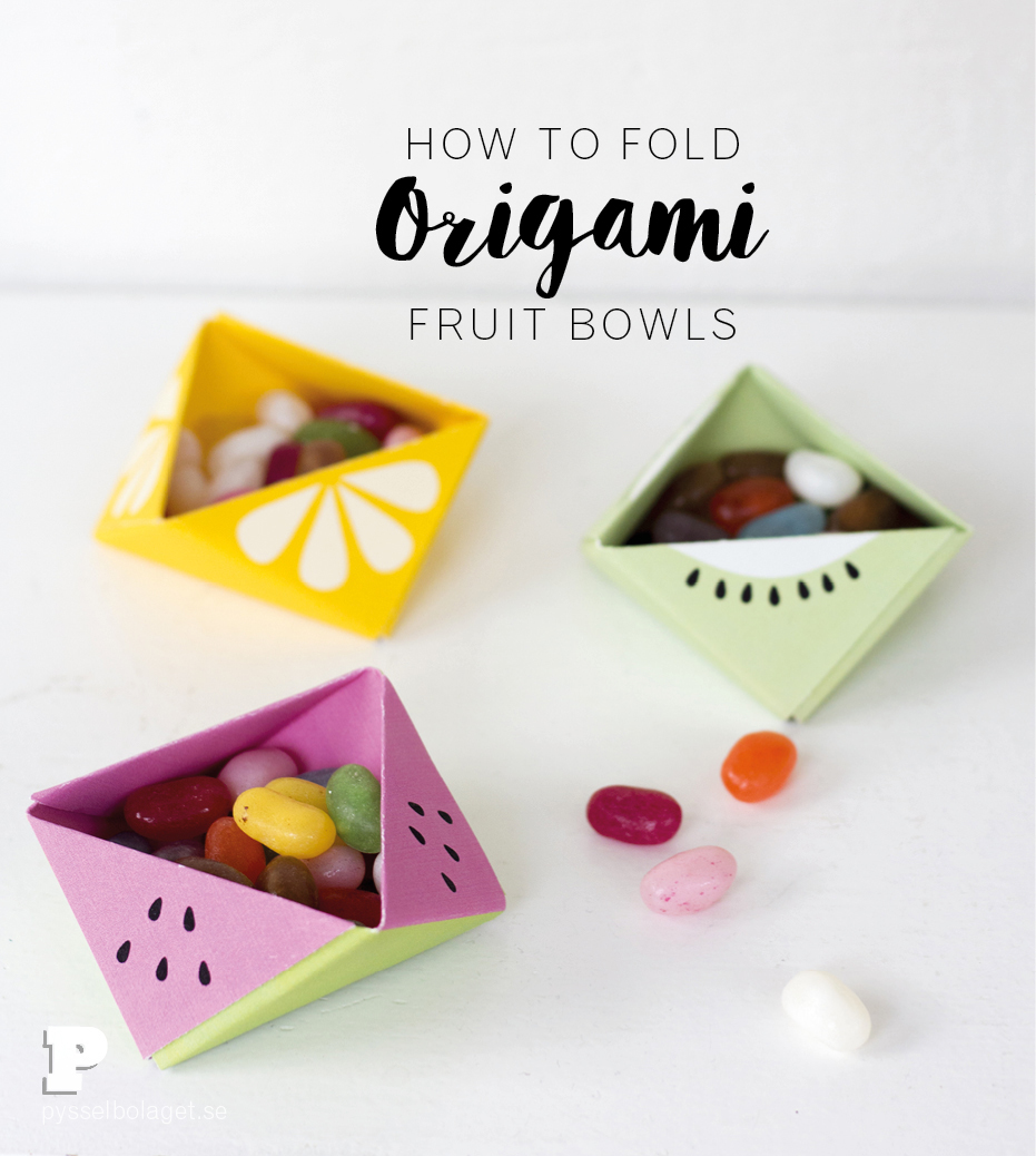 Origami fruit bowl by Pysselbolaget
