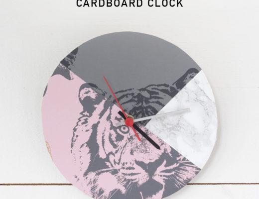 Cardboard clock by Pysselbolaget
