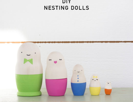 DIY Nesting dolls by Pysselbolaget