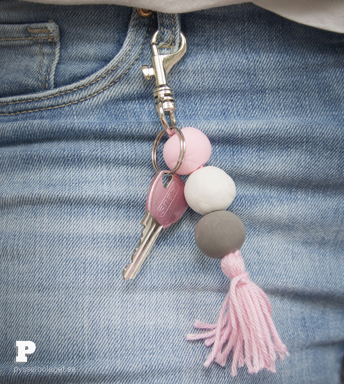 Silk Clay Keyrings by Pysselbolaget
