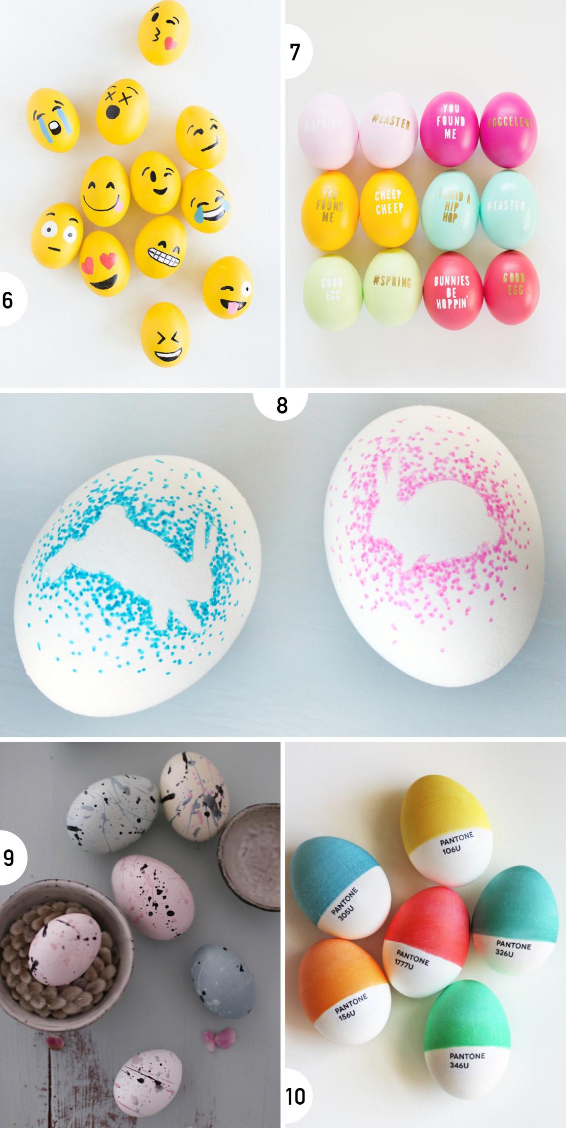 10 målade ägg