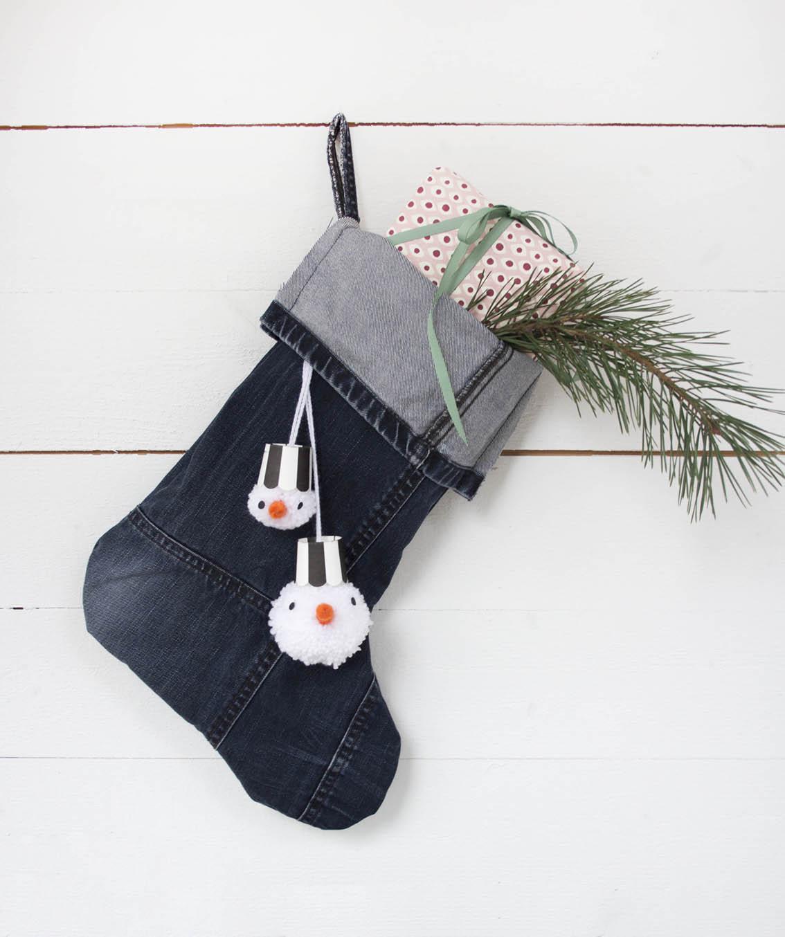 Julstrumpa i jeans | Pysselbolaget