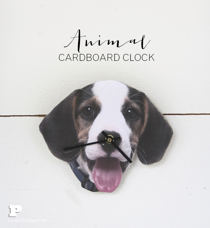 Cardboard clock 1