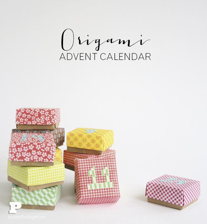 Origami advent calendar 1