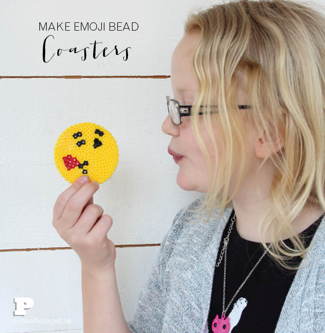Emoji bead coasters 1