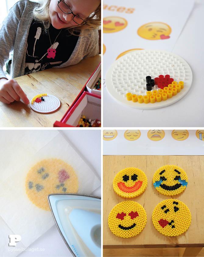 Emoji bead coasters 3
