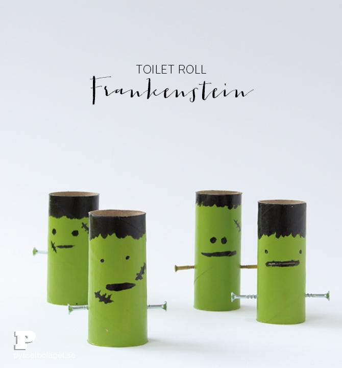 Toilet Roll Frankenstein