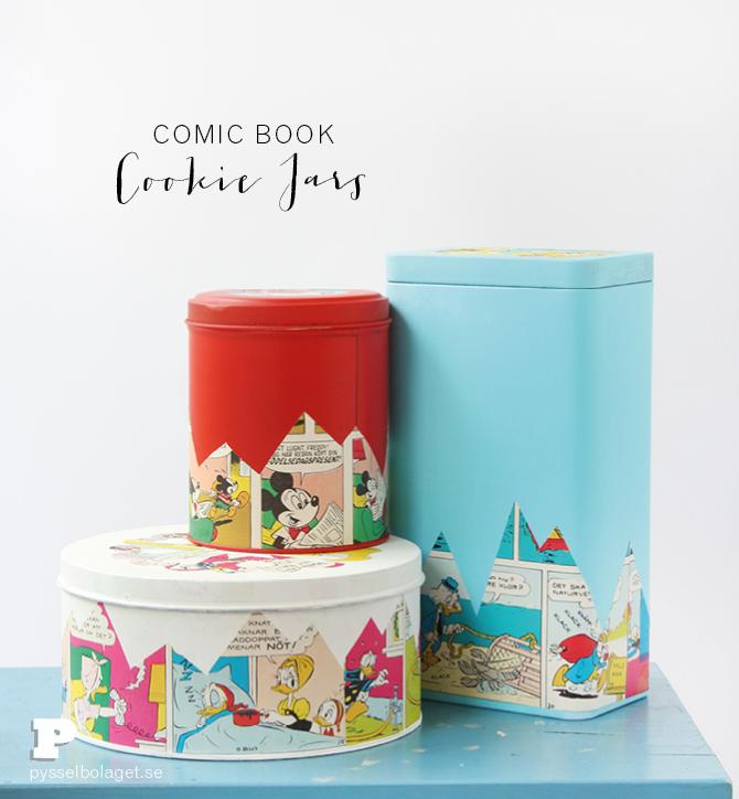 Comic book cookie jars