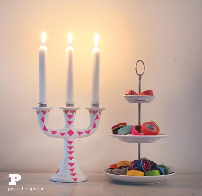 Washi tape candle holder7