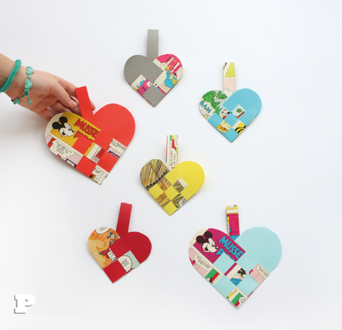Woven paper hearts 5